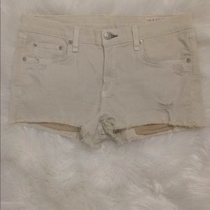New rag & bone Cut Off Jean Shorts Size 29.